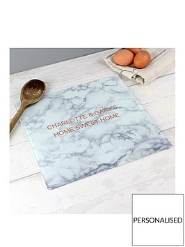 personalised-marble-effect-glass-chopping-board-worktop-saver