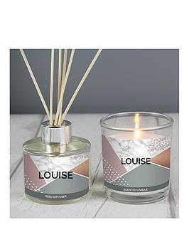 geometric-personalised-candle-and-difuser-gift-set