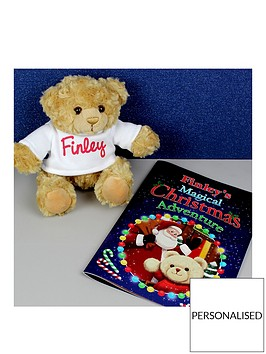 personalised-magical-christmas-book-and-bear-gift-set