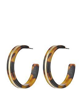 accessorize-metal-hoop-earrings-tortoiseshell