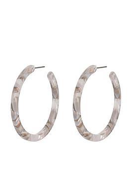 accessorize-marbled-resin-hoop-earrings
