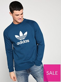 adidas-originals-trefoil-crew-neck-sweat-teal