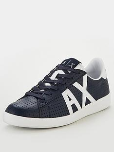 armani-exchange-logo-leather-sneaker