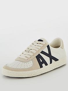 armani-exchange-leather-low-cut-sneaker