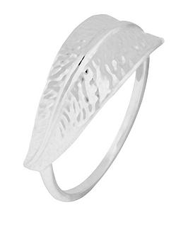 accessorize-sterling-silver-leaf-ring