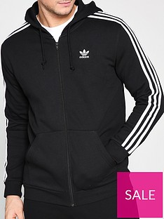 adidas-originals-3-stripe-full-zip-hoodienbsp--black