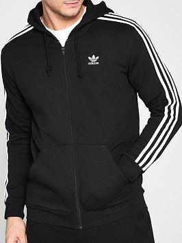adidas-originals-3-stripe-full-zip-hoodienbsp--black