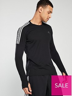 adidas-3s-long-sleeve-running-t-shirt-ndash-black