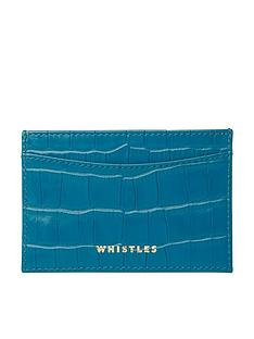 whistles-shiny-leather-crocodile-design-card-holder-blue