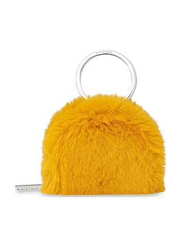 whistles-faux-fur-coin-purse-key-ring