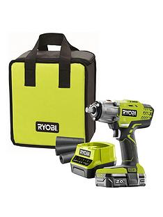ryobi-ryobi-r18iw3-120s-18v-one-cordless-3-speed-impact-wrench-starter-kit-1-x-20ah