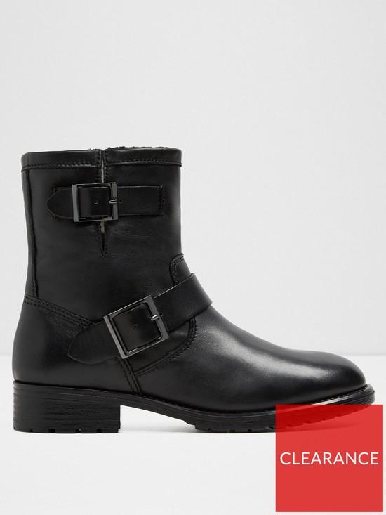175e4d8be Aldo Gochal Buckle Flat Ankle Boot