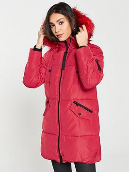 river-island-river-island-faux-fur-hooded-padded-jacket--red