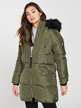 river-island-river-island-faux-fur-hooded-padded-jacket--khaki
