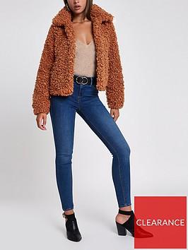 river-island-curly-faux-fur-jacket-tan