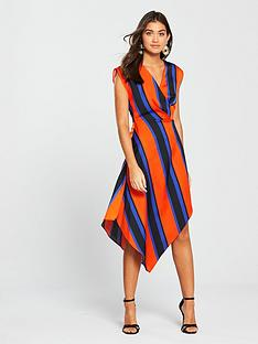 river-island-stripe-midi-wrap-dress