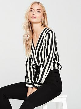 river-island-tuck-hem-blouse-stripe