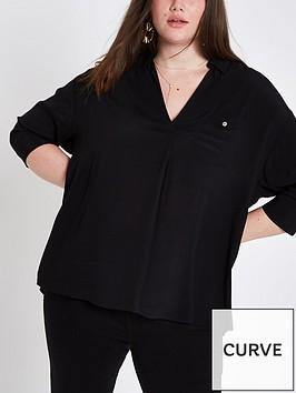ri-plus-button-back-blouse-black