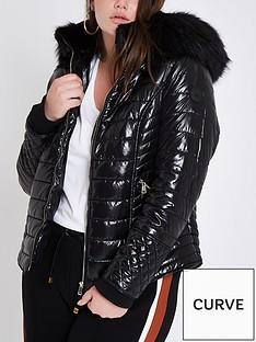 ri-plus-ri-plus-high-shine-hooded-padded-jacket--black