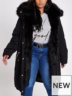 ri-plus-faux-fur-trimmed-parka--black