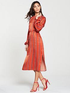 river-island-river-island-button-shoulder-stripe-midi-dress-red