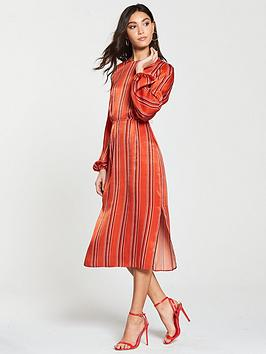 river-island-river-island-button-shoulder-stripe-midi-dress-red
