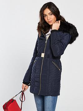 river-island-river-island-belted-hooded-padded-jacket--navy