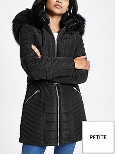 ri-petite-ri-petite-belted-hooded-padded-jacket--black