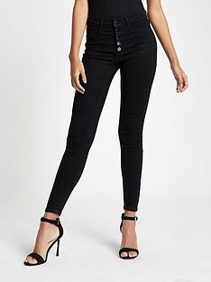 river-island-river-island-regular-length-molly-skinny-fit-jeans--black