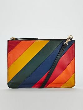 warehouse-rainbow-panelled-leather-crossbody-bag