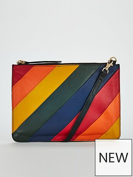 warehouse-rainbow-panelled-leather-crossbody-bag