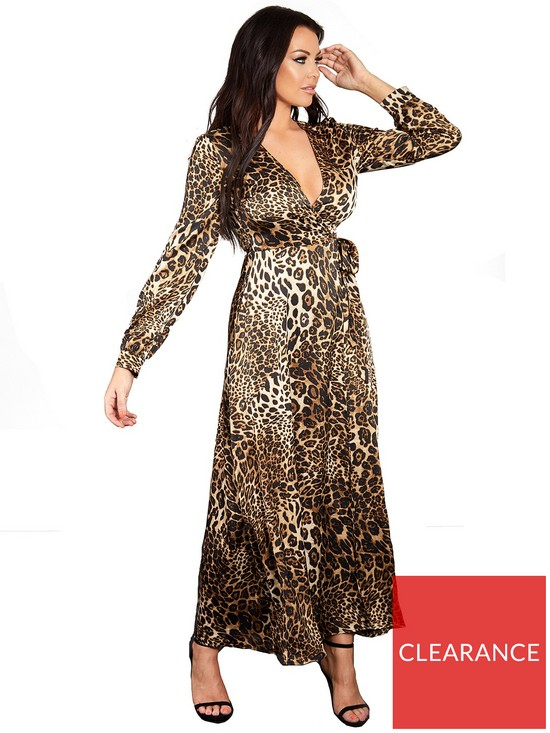 Sistaglam Loves Jessica Wrap Maxi Dress - Leopard Print  7da84192b