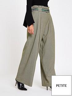 ri-petite-check-wide-leg-trousers--grey