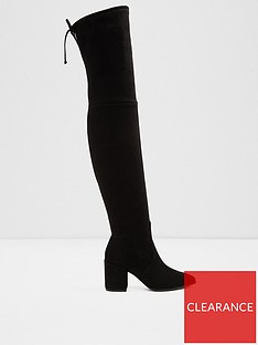 7a34d4f0a Aldo Froredia Block Heel Over The Knee Boots- Black