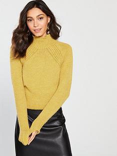 river-island-high-neck-jumper-mustard