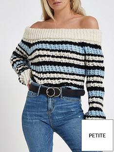 ri-petite-ri-petite-chunky-knit-bardot-jumper-stripe