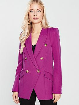 river-island-structured-blazer-pink