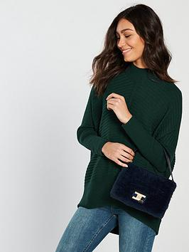 river-island-ribbed-jumper-green