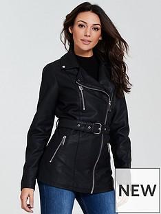 michelle-keegan-punbsplongline-jacket-black