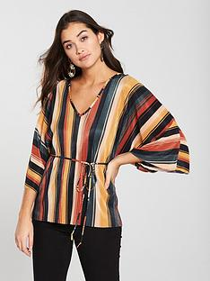 river-island-stripe-plisse-top