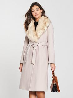 river-island-river-island-faux-fur-collar-robe-coat--stone