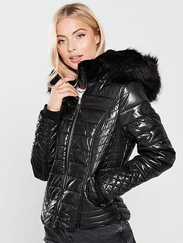 river-island-river-island-high-shine-hooded-padded-jacket--black