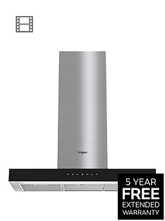 whirlpool-w-collection-whbs92fltkt-90cm-t-shape-chimney-cooker-hood-blacksteel