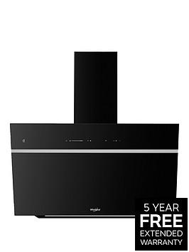 whirlpool-whvs90fltck-90cm-vertical-chimney-cooker-hood-black