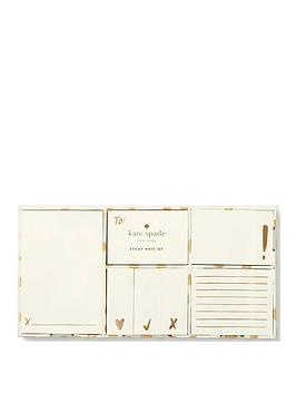 kate-spade-new-york-kate-spade-gold-flamingo-dot-sticky-note-set