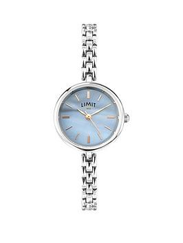 limit-blue-mother-of-pearl-dial-cocktail-stainless-steel-bracelet-ladies-watch