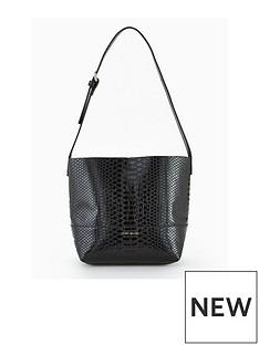karen-millen-snake-bucket-shoulder-bag-black