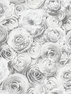 arthouse-wild-rose-silver-wallpaper
