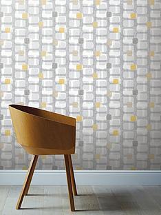 arthouse-retro-block-ochre-amp-grey-wallpaper