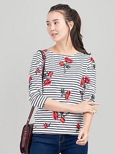 joules-harbour-floral-top-red